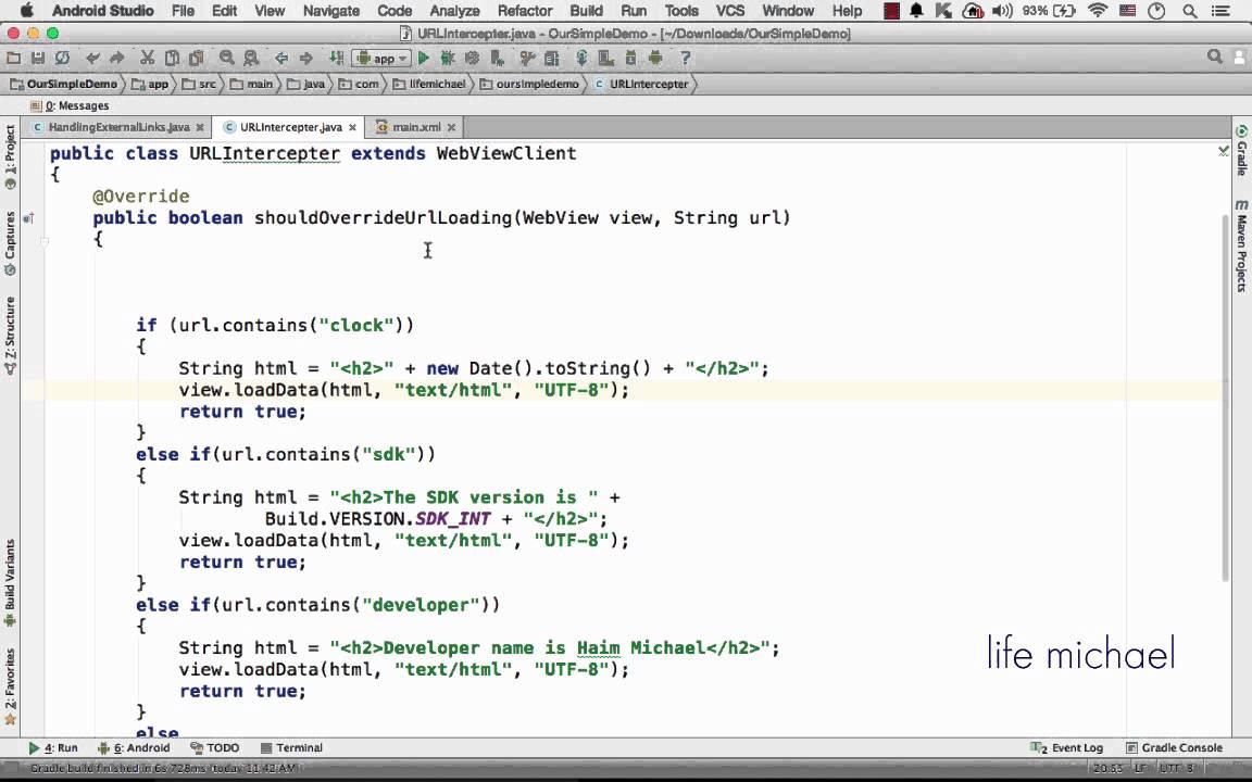 Handling External Links in WebView