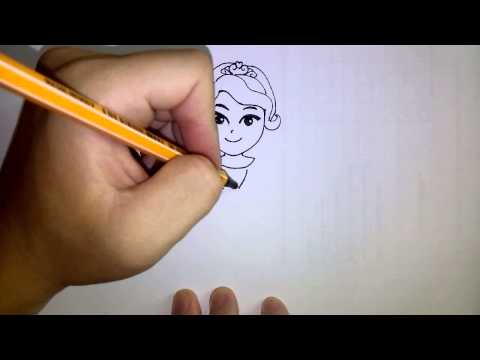 วาดการ์ตูนกันเถอะ สอนวาดการ์ตูน เจ้าหญิงโซเฟียที่หนึ่ง ง่ายๆ หัดวาดตามได้