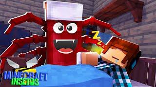 Minecraft Insetos #06 - MINHA CAMA VIROU UM INSETO! 🐜