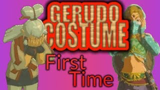 Zelda Breath of the Wild: Speaking to Paya in Gerudo Clothes for the first time