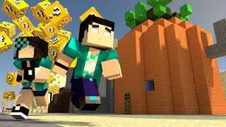 Minecraft - FENDA DO BIQUINI JOGOS VORAZES - LUCKY BLOCK MOD - MINI-GAME COM MODS
