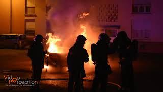 Les pompiers, policiers et gendarmes en intervention à Mulhouse