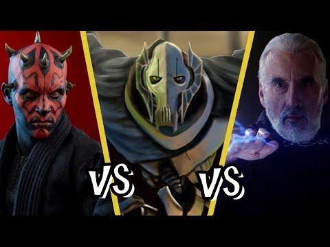Darth Maul Vs General Grievous Vs Count Dooku - 3 Way Battle