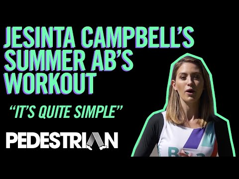 Jesinta Campbell's Summer Abs Workout