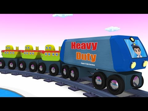 Toy Train -  Cartoon Train - Train Videos - Kids Videos for Kids - Cartoon Cartoon - JCB Trucks