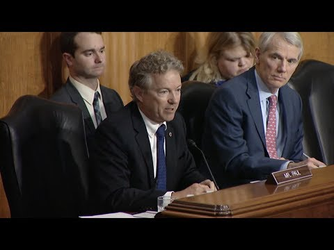 Sen. Paul Questions CIA Director Mike Pompeo at Sec. of State Nomination Hearing - April 12, 2018