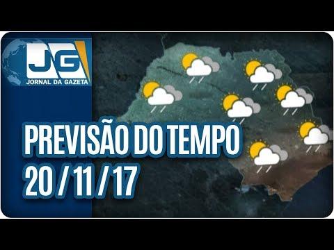 Previsão do Tempo - 20/11/2017