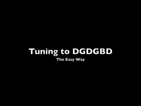 easy way to tune your guitar to dgdgbd