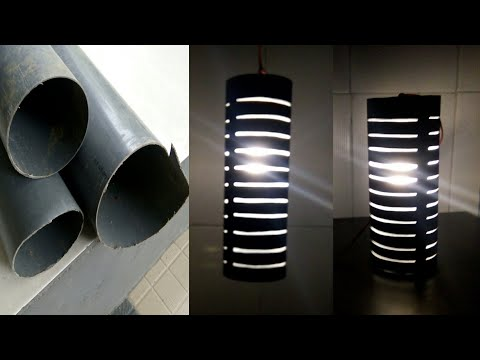Cara Mudah Membuat Lampu Hias Motif Lingkaran Dari Paralon Bekas || DIY pvc pipe decorative lights