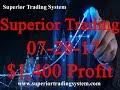 Superior Trading System $1,400 Profit