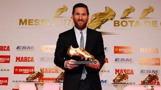 [FULL STREAM] Leo Messi receives the 2018 Golden Shoe Award