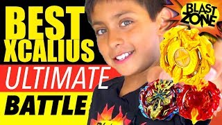 Beyblade Burst Battle! Best Xcalius Challenge and Hasbro Master Kit unboxing!