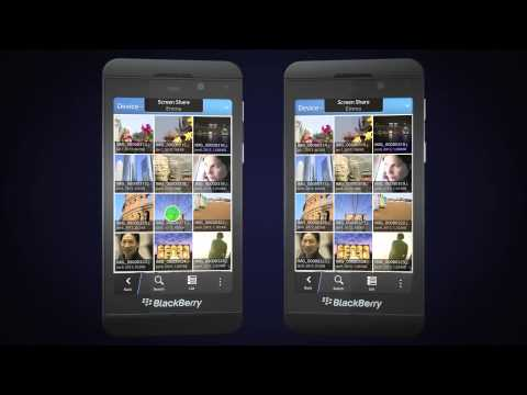 BlackBerry 10  BBM Video Chat And Screen Share Close-up