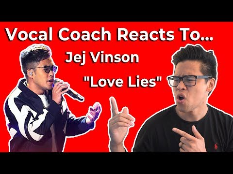Vocal Coach Reacts to Jej Vinson Performs Khalid and Normani's Love Lies The Voice Live Top 24