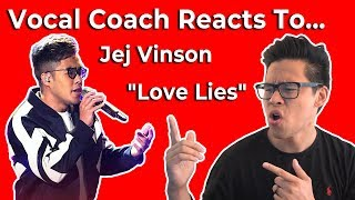 Vocal Coach Reacts to Jej Vinson Performs Khalid and Normani's Love Lies The Voice Live Top 24 Video
