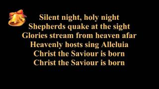 Silent night lyrics (karaoke) - instrumental music - piano and strings - Christmas song / carol