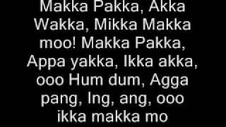 makka pakka song - lyrics video