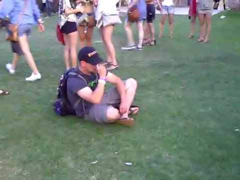 Wasted guy at Coachella 2010 - FRIDAY