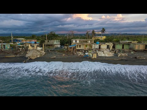 Seaside village destroyed by Hurricane Maria struggles to rebuild one year later