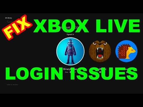 Xbox One: Can't log into LIVE.