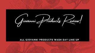 GIOVANNI - Wash Day Routine