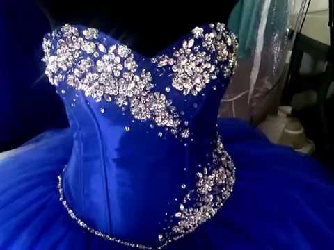 Vestidos De Xv Azul Rey 2017