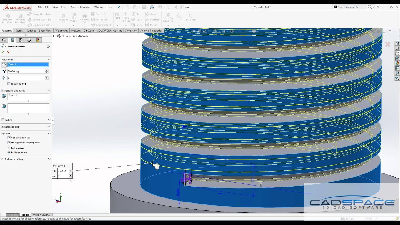 SolidWorks 2016 New Thread Features
