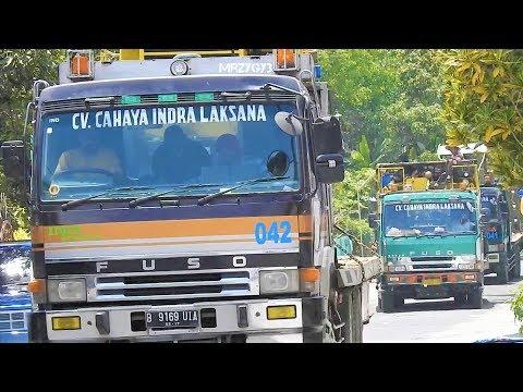 Asphalt Construction Equipment Transport By Fuso Self Loader Truck