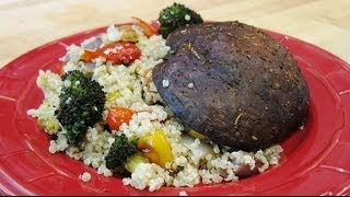 Roasted Veggie Quinoa & Smoked Portobello Mushrooms