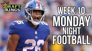 NFL WEEK 10 MONDAY NIGHT FOOTBALL DRAFTKINGS AND FANDUEL LINEUPS AND PICKS