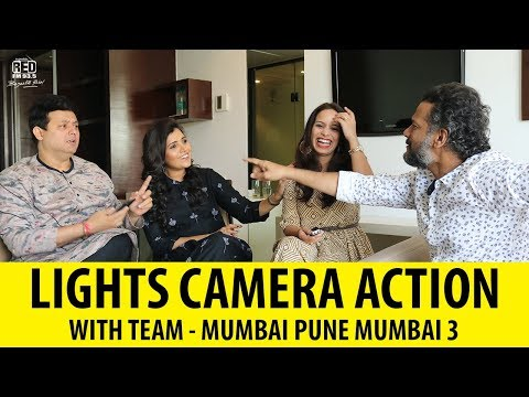 "Kallakar Shruti's Lights Camera Action with Team ""MUMBAI PUNE MUMBAI 3"""