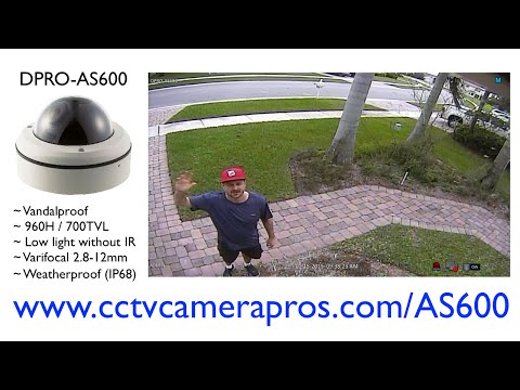 Vandal-proof Dome CCTV Camera Sample Video Surveillance