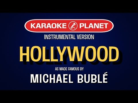 Hollywood | Karaoke Version in the style of Michael Buble