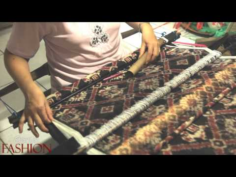 Double Ikat weaving in Bali Indonesia