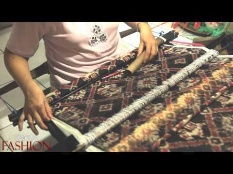 Double Ikat weaving in Bali Indonesia