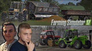 Wywóz obornika na pola w PGR Bruzda ☆ Let's Play Farming Simulator 17 ㋡ Bronczek & Kaskader