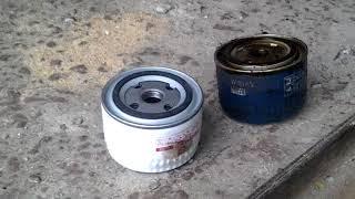 Лада калина 16 клапанная, замена фильтра масла, замена воздушного фильтра и бензинового