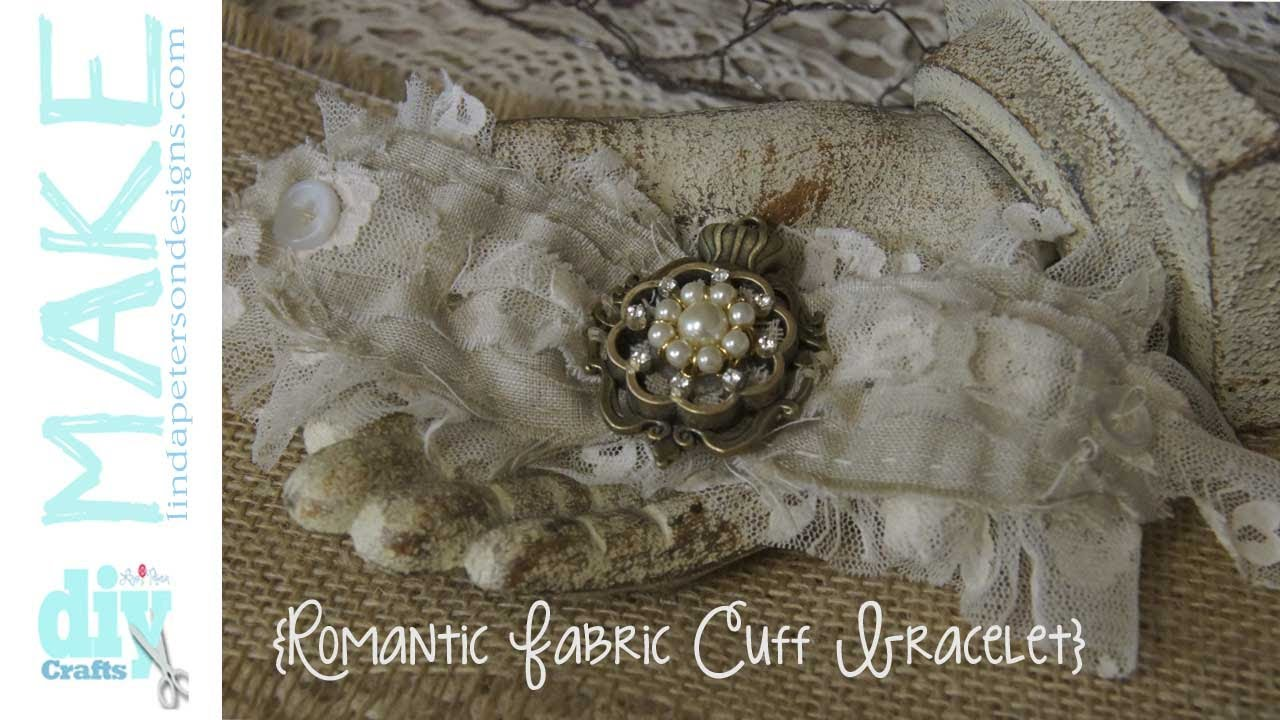 Easy To Sew Romantic Lace Cuff Bracelet Youtube