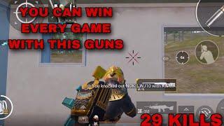Best Gun Couple In PUBG Mobile 29 KILLS SOLO VS SQUAD Gameplay