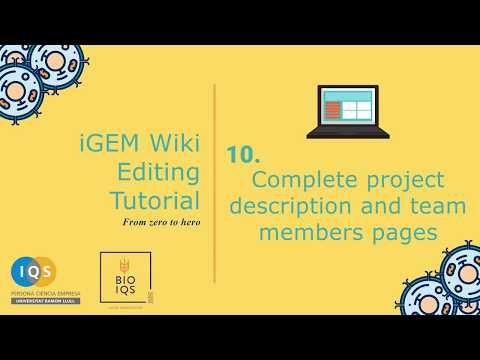10. A commented example: complete project description and team member pages