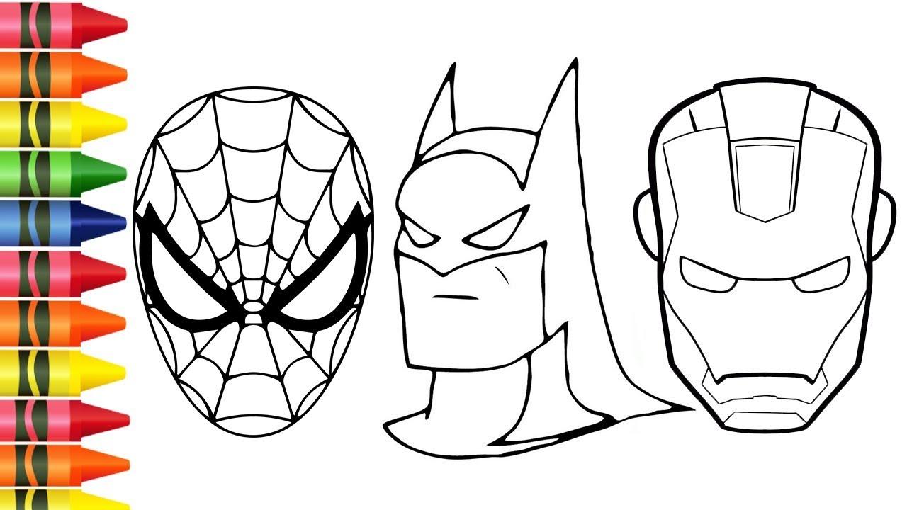 Colorir Desenhos Do Homem Aranha E Batman E Homem De Ferro Desenhos Animados De Colorir Infantil