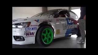 Mitsubishi EVO X driftcar 1 TEST! by MD Motorsport