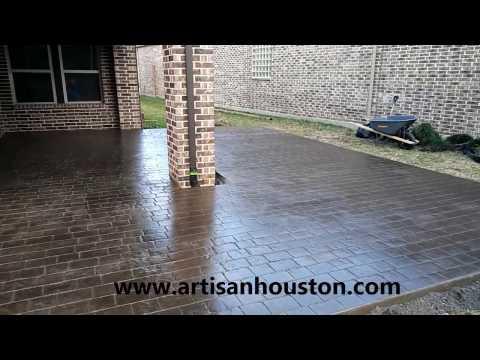 Quality Stamped Concrete Installer - Houston TX - Artisan Concrete & SurfaceWorks