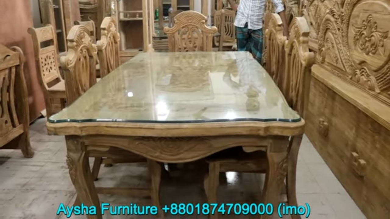 Solid Wooden Furniture Segun Wooden Dining Table Youtube
