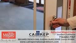 Milgard French Rail Sliding Glass Door - California Replacement Windows 714-632-7767 Orange County