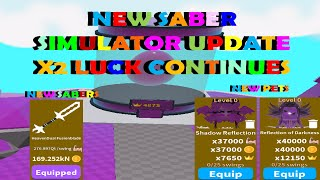 NEW SABER SIMULATOR UPDATE X2 LUCK WEEK CONTINUES NEW ISLAND 91 NEW PETS NEW SABERS