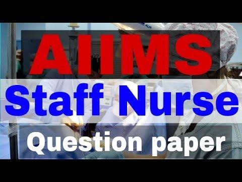 AIIMS STAFF NURSE QUESTION PAPER