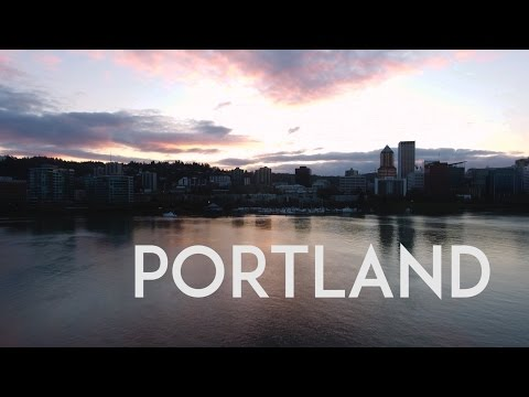 Portland Oregon April 2017 Aerial Tour in 4K