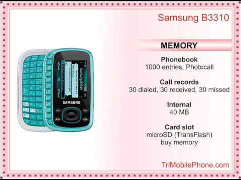 Samsung B3310 Mobile Phone Specification, Features and Slide show