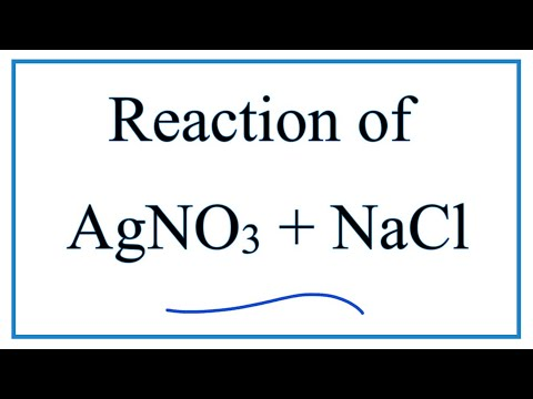 Reaction Between AgNO3 And NaCl (Silver Nitrate + Sodium Chloride)